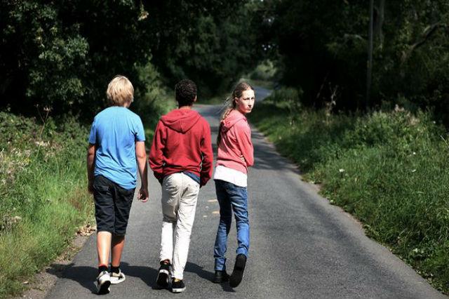 Teenagers Walking
