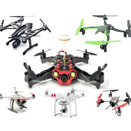 Six Different Drones