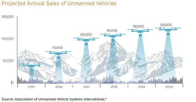 Annual Drone Sales