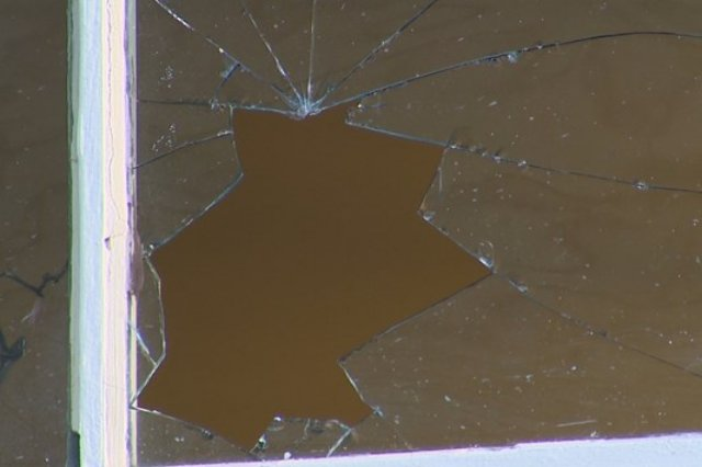 Broken Dining Room Window
