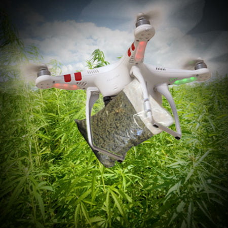 Drone Delivers Cannabis Crashes