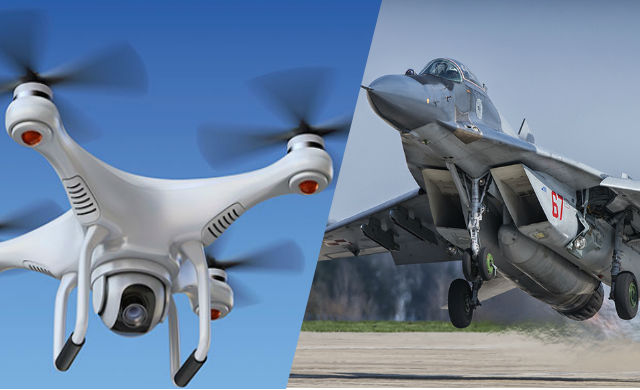 Drones Threatening Military Jets