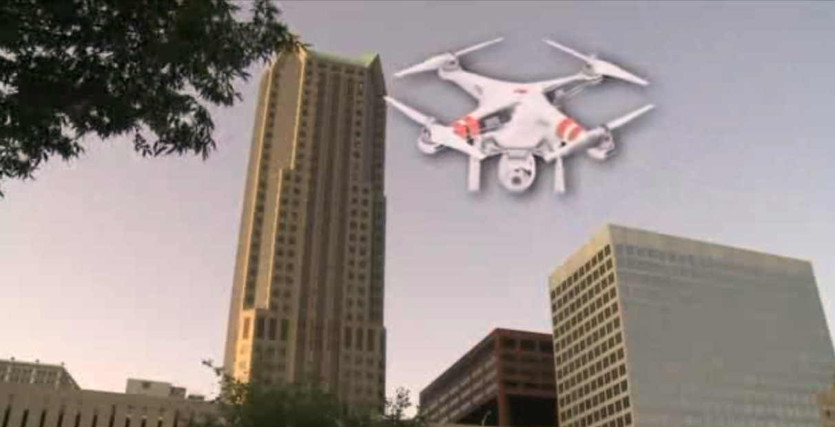 Drone Crash Lands on City's Tallest Building