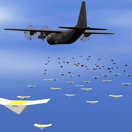 Swarming Drones Have the Ability to Modify the Appearance of Air Warfare