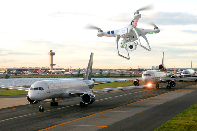 Drone Flown Near an Airport