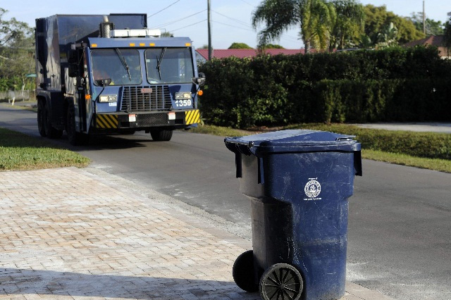 Blue Garbage Truck