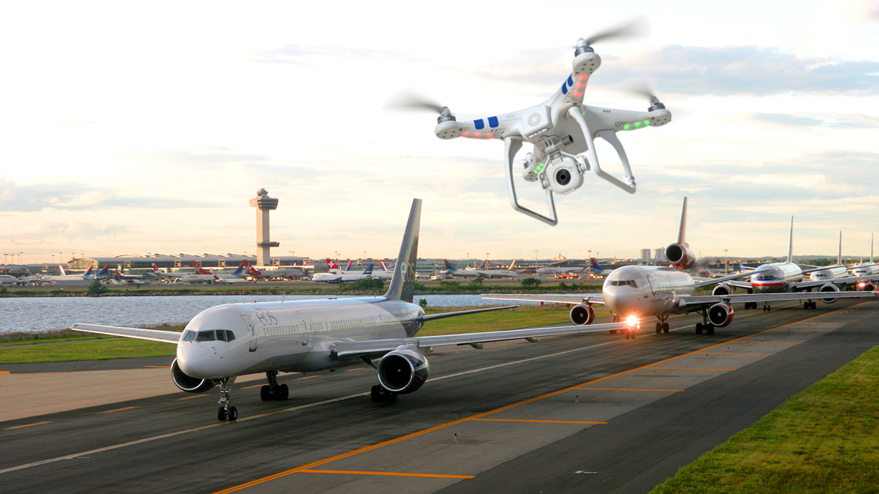 Rogue Drones in Airport
