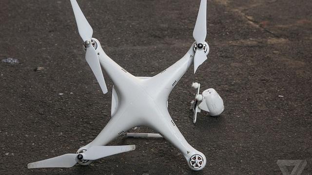 Broken DJI Phantom Drone
