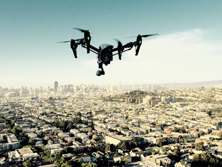 drone+over+city