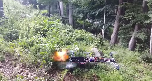 Drone with Gun Attached