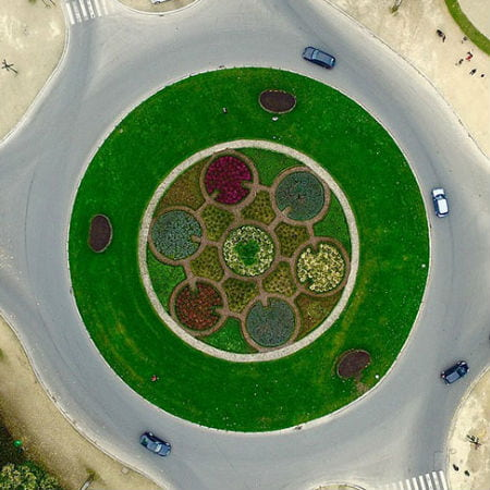 Aerial Photo of a Roundabout