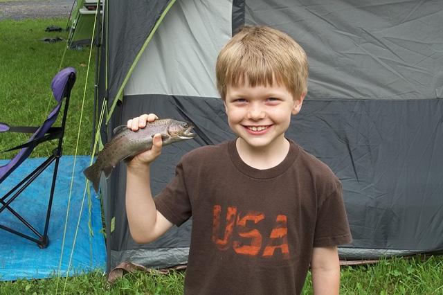 Child caught fish
