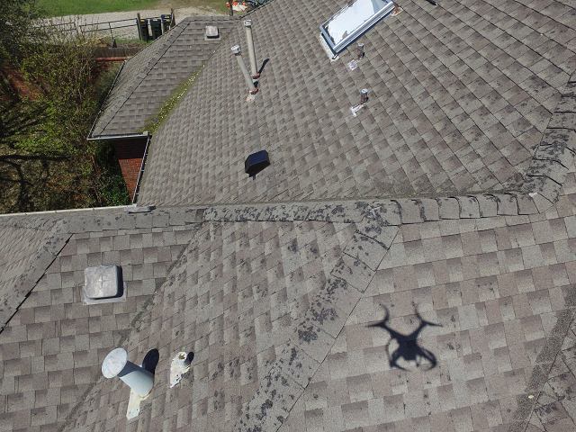 Drone Flying Above the House
