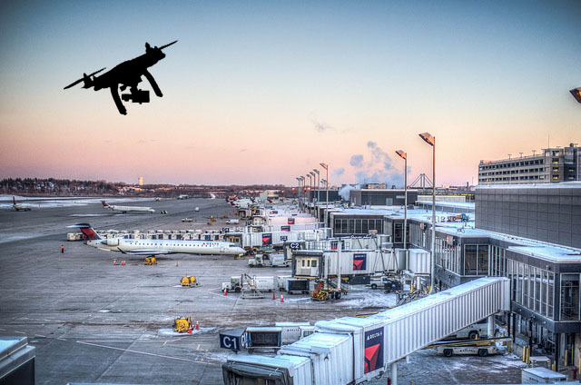Illegal Flying Drones Near Airports