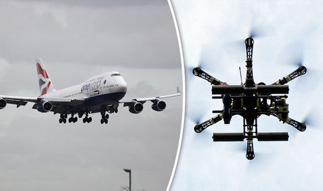 Drones and Airplanes Collide