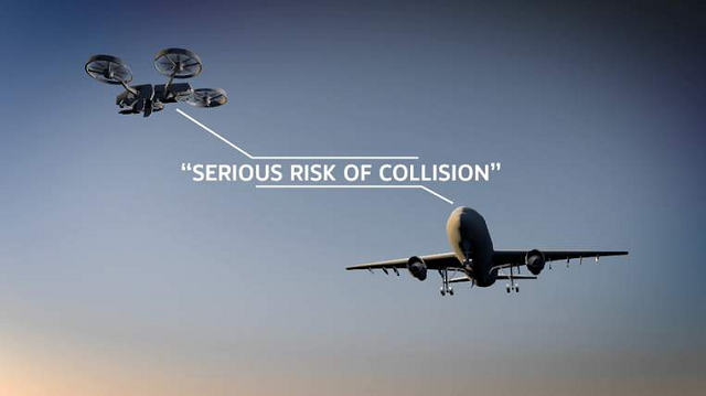 Drone Collision with Airplane
