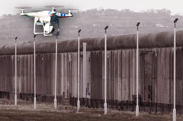 Drones Flying into Prisons