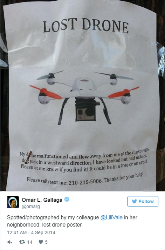 Missing Drones