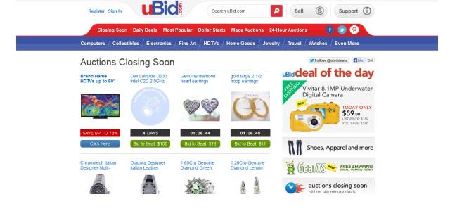 Online Bidding Stores