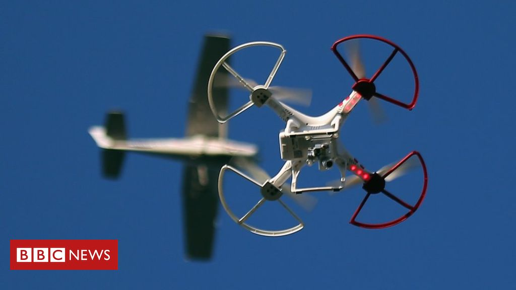 _90315850_drone_aircraft - Drone and Aircraft Collision Highly Improbable