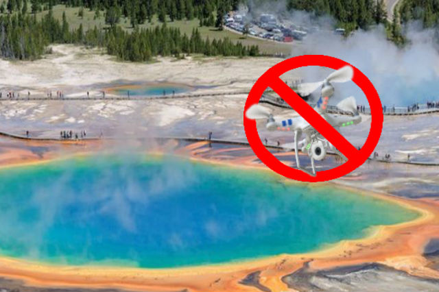 Drone Ban at Yellowstone Spring