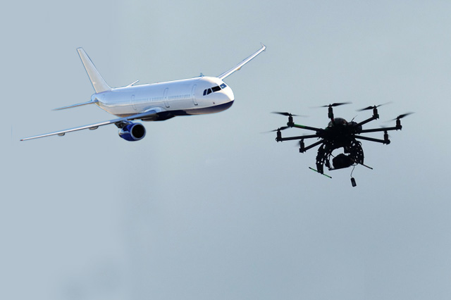 Drone and plane - Drone and Aircraft Collision Highly Improbable