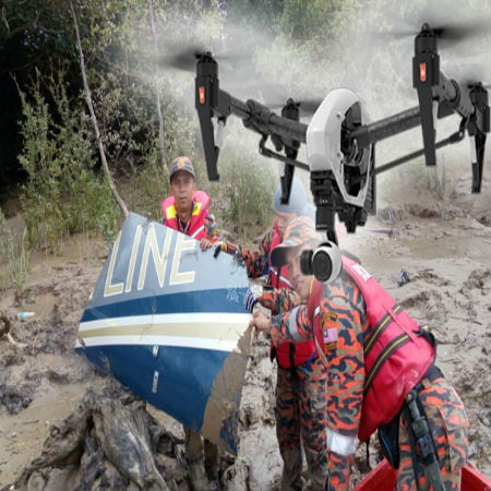 Drones Deployed in Search for Helicopter Crash Victim