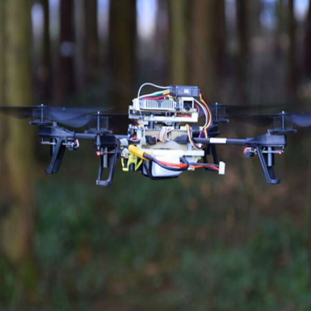 Drones Search for Lost People by Following Forest Trails