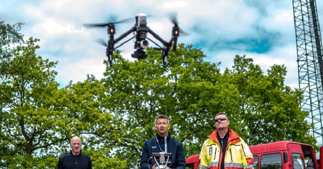 Emergency Workers Saved by Drones