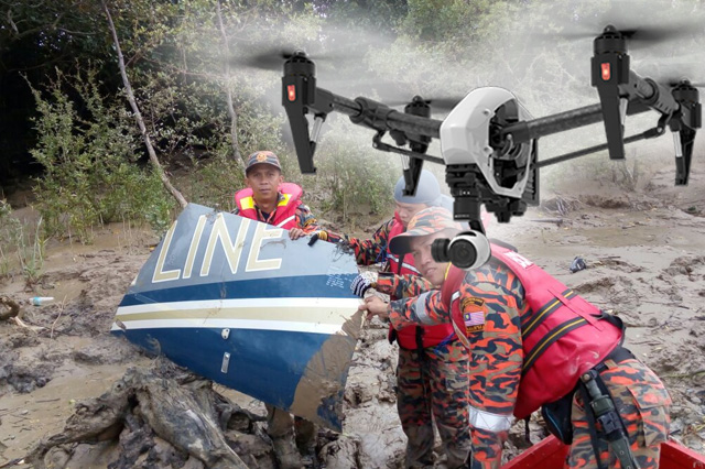 Drones to Search Helicopter Crash Victim