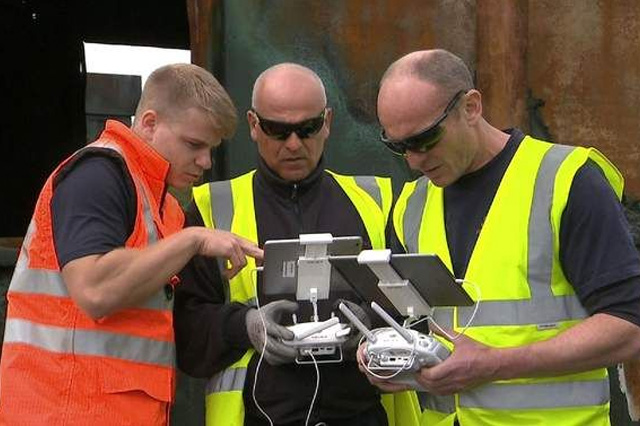 Emergency Workers with Drones