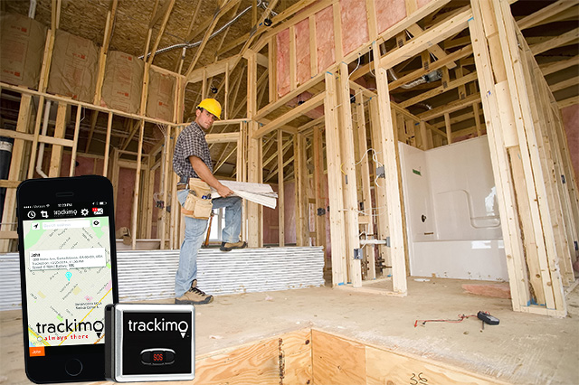 Safe Construction Site with GPS Tracking Devices