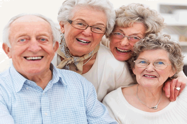 Smiling Elderlies