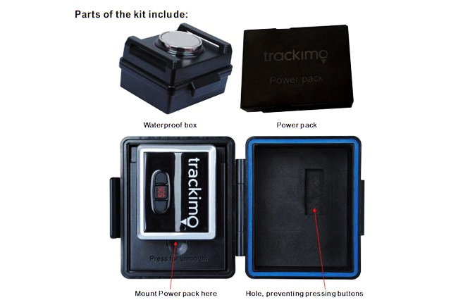 Waterproof Magnetic Box for GPS Tracker