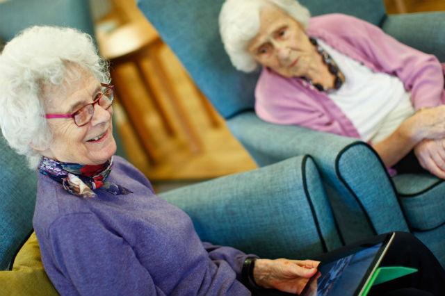 Old Ladies at Home