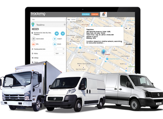 Trackimo App for Delivery Vehicle GPS Tracking