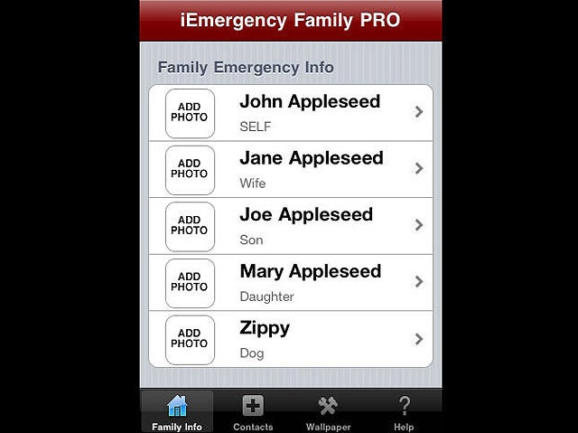 iEmergency ICE Family PRO