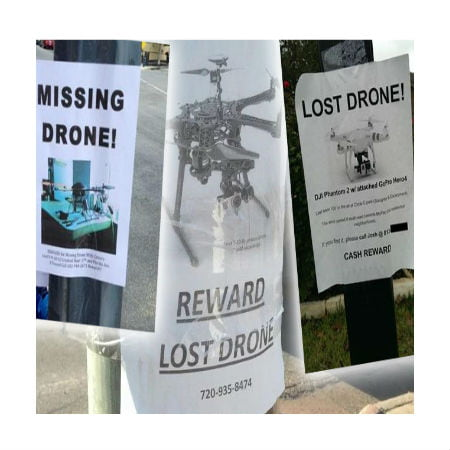 Concerned Owner Spreads Fliers for Missing Drone