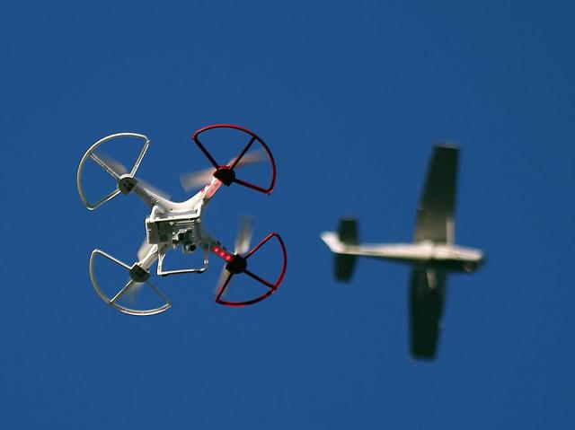 Drone Near Airplane