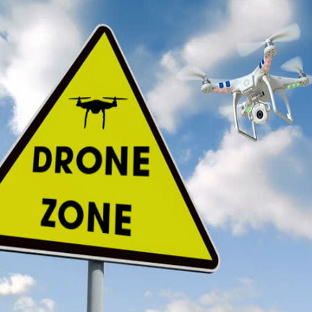 Drone Flying into Drone Zone