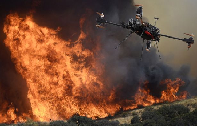 Drone in a Wildfire