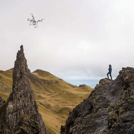 Finding Lost Hikers with Drones