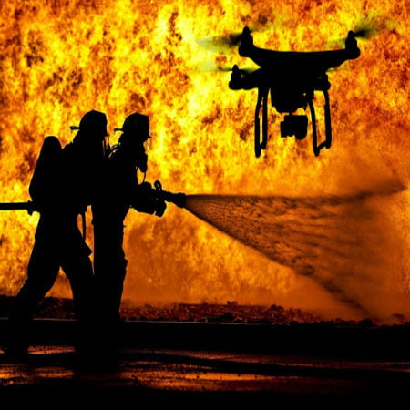 Firefighters Get Distracted by Drone
