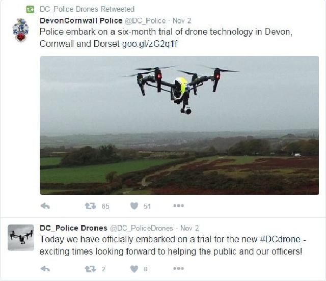 Police Drone Tweet