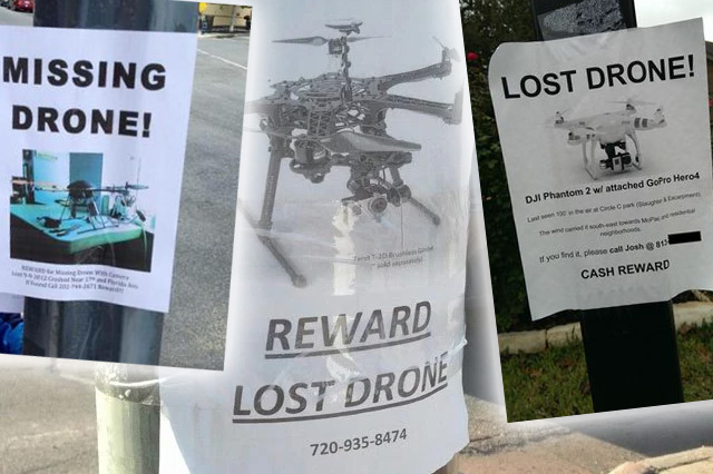 Fliers for Missing Drone