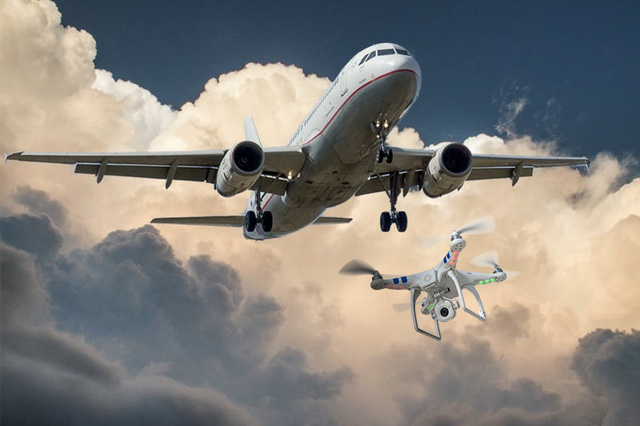 Plane Crash Caused by Drones