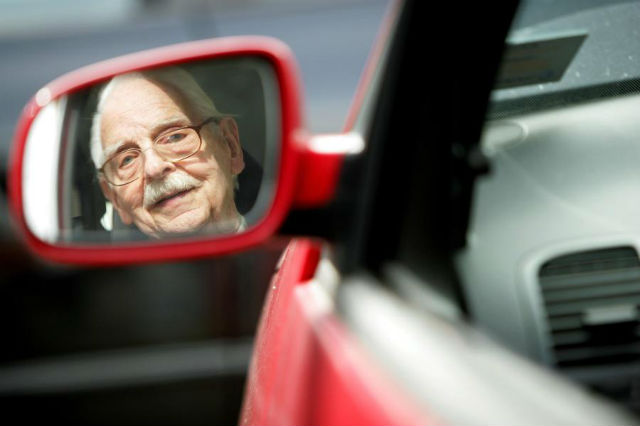 Elderly driving alone