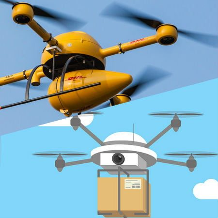 Two Delivery Drones