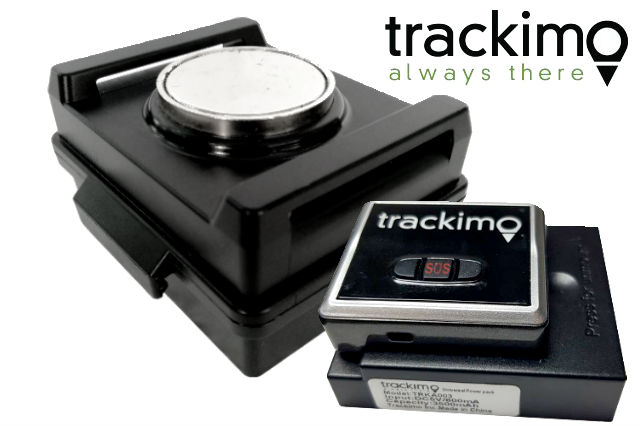 Trackimo's waterproof magnetic box and 3500 mAh battery pack