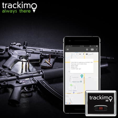 GPS for tracking guns